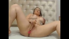 Vanesa play with dildo and cum Thumb