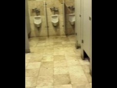 PUBLIC SEX, Whore Student After School in the Men's Bathroom in the Mall Thumb