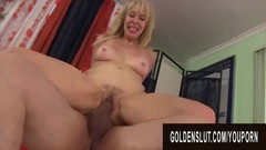 Golden Slut - Stretching Hairy Mature Pussies Compilation Part 1 Thumb