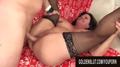 Golden Slut - Brunette Mature Beauty Leylani Wood Compilation Part 5 Thumb