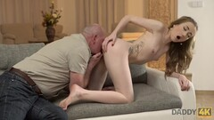 DADDY4K. Young skinny dollface has sex with old man in country house Thumb