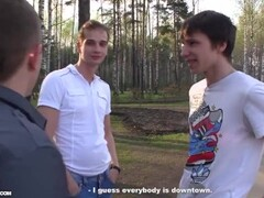 Русскую студентку отодрали в машине Thumb