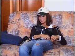 Gorgeous Czech Brunette Interviewed and Boned by Hairy Middle-Aged Dude Thumb