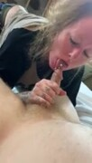 slut wife sucks and rides my pierced cock and takes a load on her ass Thumb