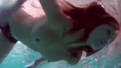 Sexy underwater redhead Nikita Vodorezova Thumb